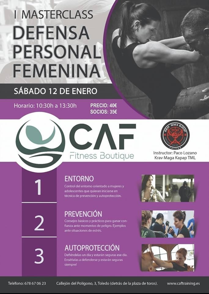 Másterclass defensa personal femenina